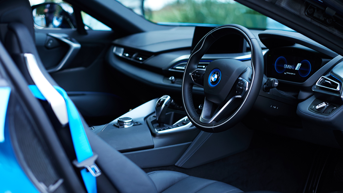 Photo of the inside of an electric car