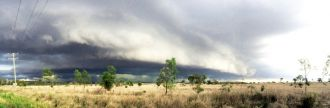 Image of an approaching storm near Rockhampton