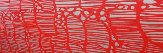Picture of red lines on a cream background