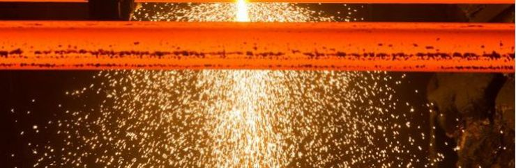 Image of sparks and red hot steel