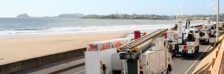 Trucks on Yeppoon foreshore