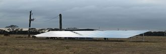 Solar panel array in on a cattle property