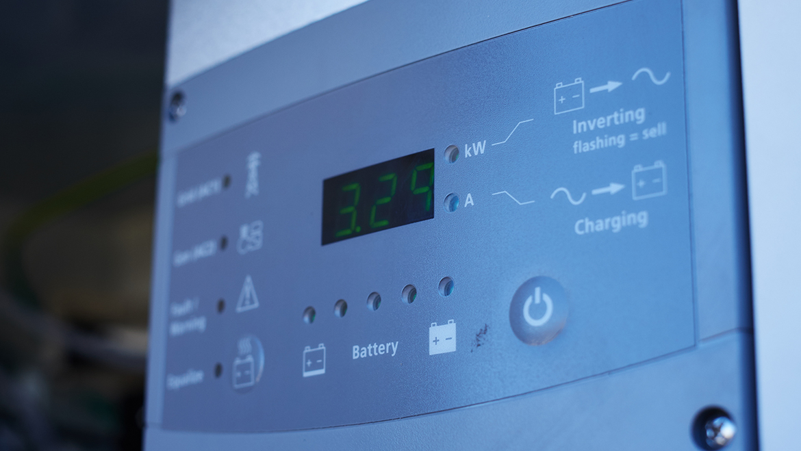 Photo of a battery storage inverter