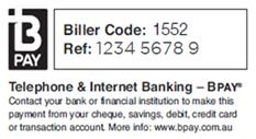 An image of where you can find BPay details on your bill.