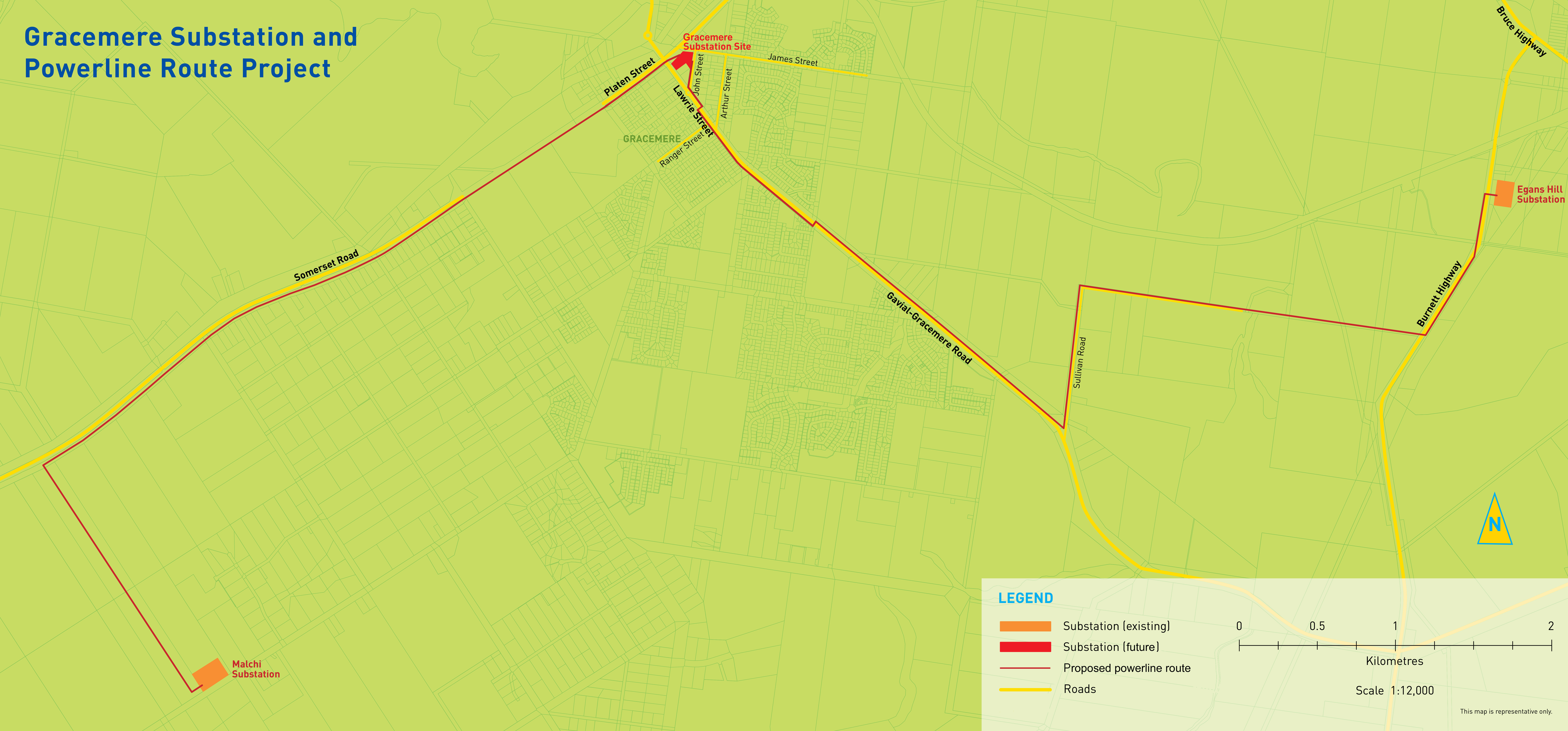 Gracemere substation and powerline route - Ergon Energy